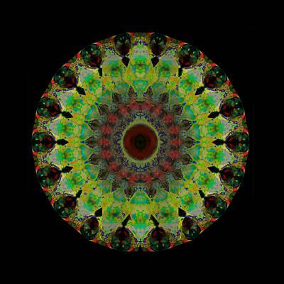 Heart Aura - Mandala Art By Sharon Cummings Poster by Sharon Cummings
