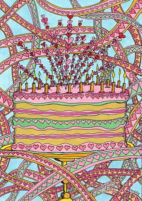 Heart Cake - Revisited Poster by Mag Pringle Gire