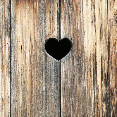 Heart In Wood Poster by Brooke Ryan
