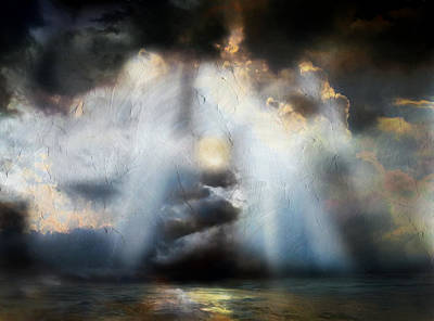 Heart Of The Storm - Abstract Realism Poster by Georgiana Romanovna