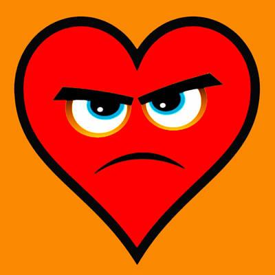 Heart Series Love Angry Hearts Poster by Tony Rubino