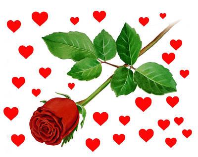 Hearts For Valentine Poster by Irina Sztukowski