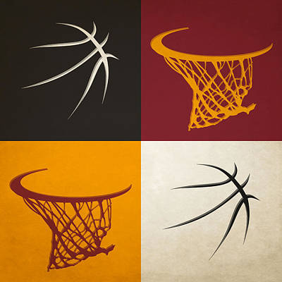 Heat Ball And Hoop Poster by Joe Hamilton
