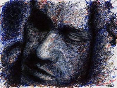 Heath Ledger - Blue Poster by Rachel Scott