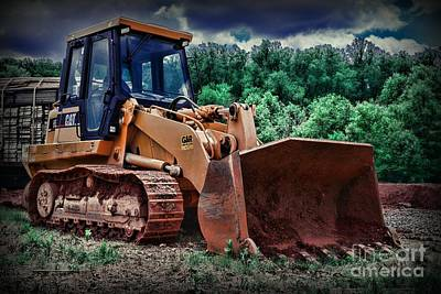 Heavy Construction Equipment - Bulldozer Poster by Paul Ward