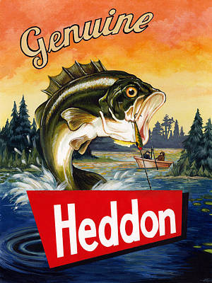 Heddon Lures Poster by Kelly Gilleran