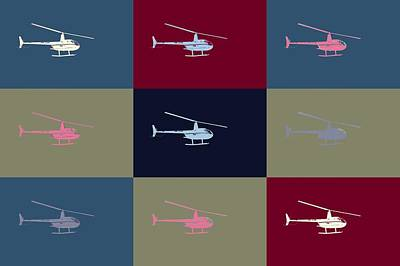 Helicopter  Poster by Toppart Sweden