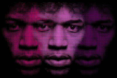 Hendrix - Purple Hazy Poster by Bobby Zeik