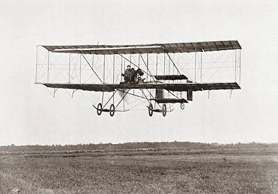 Henri Farman Winning The Grand Prix Of Two Thousand Pounds For The Longest Flight Of 112 Miles Poster by Bridgeman Images