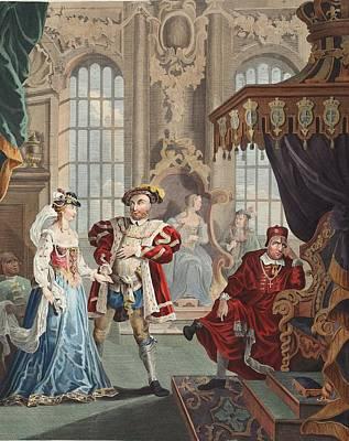 Henry Viii And Anne Boleyn Poster by William Hogarth