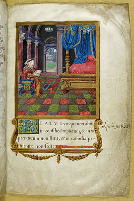 Henry Viii Reading In Chamber Poster by British Library