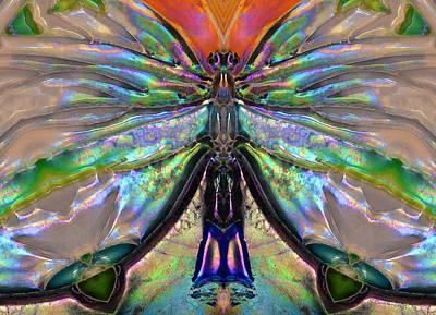 Her Heart Has Wings - Spiritual Art By Sharon Cummings Poster by Sharon Cummings