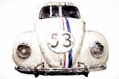 Herbie The Love Bug Poster by Vivian Frerichs