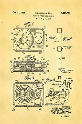 Herman And Marx Cardiac Monitor Patent Art 1969 Poster by Ian Monk