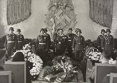 Hermann Goering At The Funeral Poster by Everett