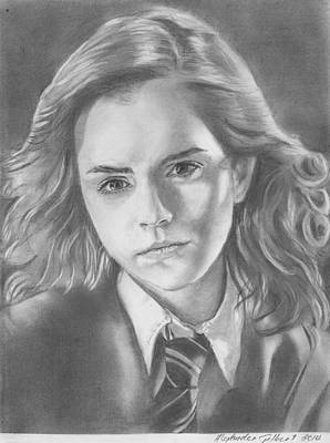 Hermione Granger - Pencil Poster by Alexander Gilbert