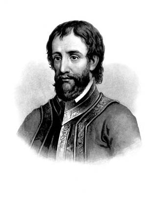 Poster featuring the photograph Hernando De Soto, Spanish Conquistador by British Library