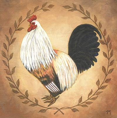 Hero The Rooster Poster by Linda Mears