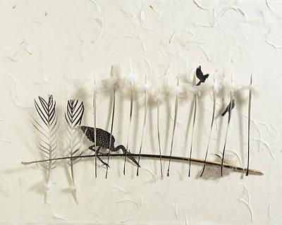 Heron Land Poster by Chris Maynard