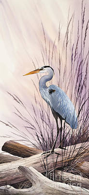 Herons Driftwood Home Poster by James Williamson
