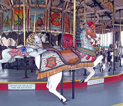 Herschell Spillman Armored Horse Poster by Barbara McDevitt