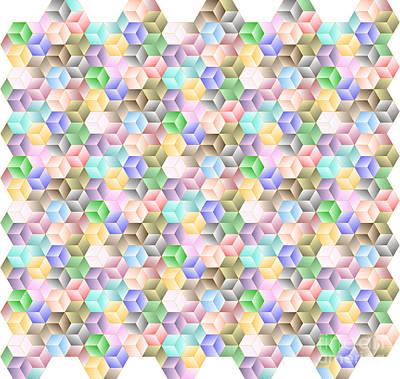 Hexagonal Cubes Poster by Cam Macfarlane