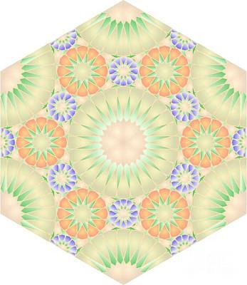 Hexagonal Tile Abas140 Poster by Cam Macfarlane