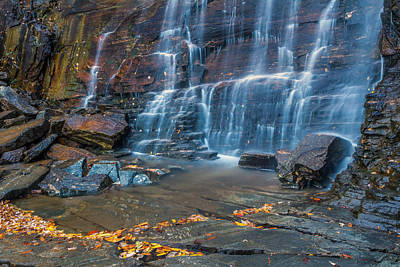 Hickory Nut Falls In Chimney Rock State Park Poster by Pierre Leclerc Photography