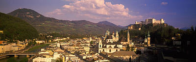 High Angle View Of A City, Salzburg Poster by Panoramic Images