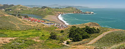 High Angle View Of A Coast, Marin Poster by Panoramic Images