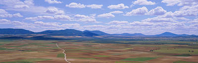 High Angle View Of A Dirt Road Passing Poster by Panoramic Images