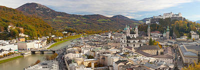 High Angle View Of The City, Salzburg Poster by Panoramic Images