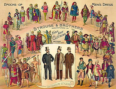 High Art Clothing 1888 Poster by Padre Art