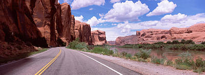 Highway Along Rock Formations, Utah Poster by Panoramic Images