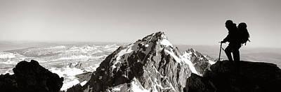 Hiker, Grand Teton Park, Wyoming, Usa Poster by Panoramic Images
