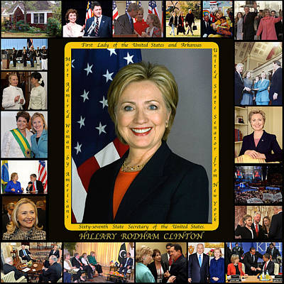 Hillary Rodham Clinton        Poster by James William Allen