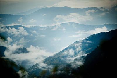 Himalayas Mountain With Clouds  Panaramic Poster by Raimond Klavins