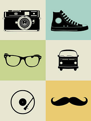 Hipster Mix Poster Poster by Naxart Studio