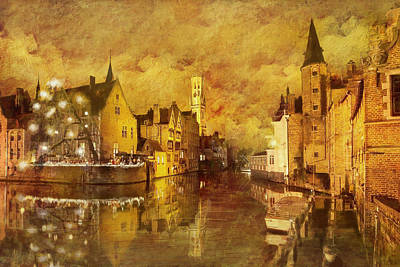 Historic Centre Of Brugge Poster by Catf