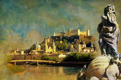 Historic Centre Of The City Of Salzburg Poster by Catf