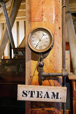 Historic Flour Mill Steam Gauge Poster by Jim West
