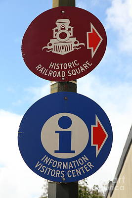 Historic Railroad Square Sign Santa Rosa California 5d25868 Poster by Wingsdomain Art and Photography
