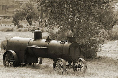 Historic Steam Tractor Poster by Christiane Schulze Art And Photography