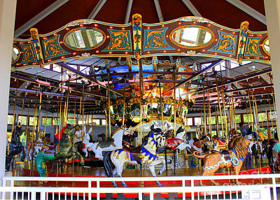 Historical Carousel In Tennessee Poster by Kathy  White