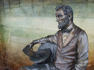 History - Abraham Lincoln Contemplates -  Luther Fine Art Poster by Luther   Fine Art