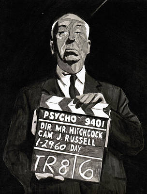 Hitchcock Poster by Rob Merriam