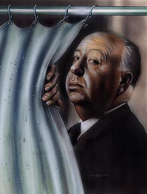 Hitchcock Poster by Tim  Scoggins