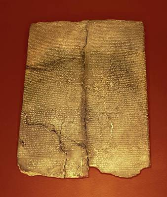 Hittite Cuneiform Tablet Poster by David Parker