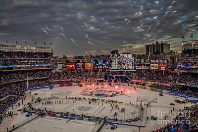Hockey At Yankee Stadium Poster by David Rucker