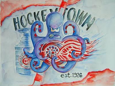 Hockeytown Poster by Elaine Duras